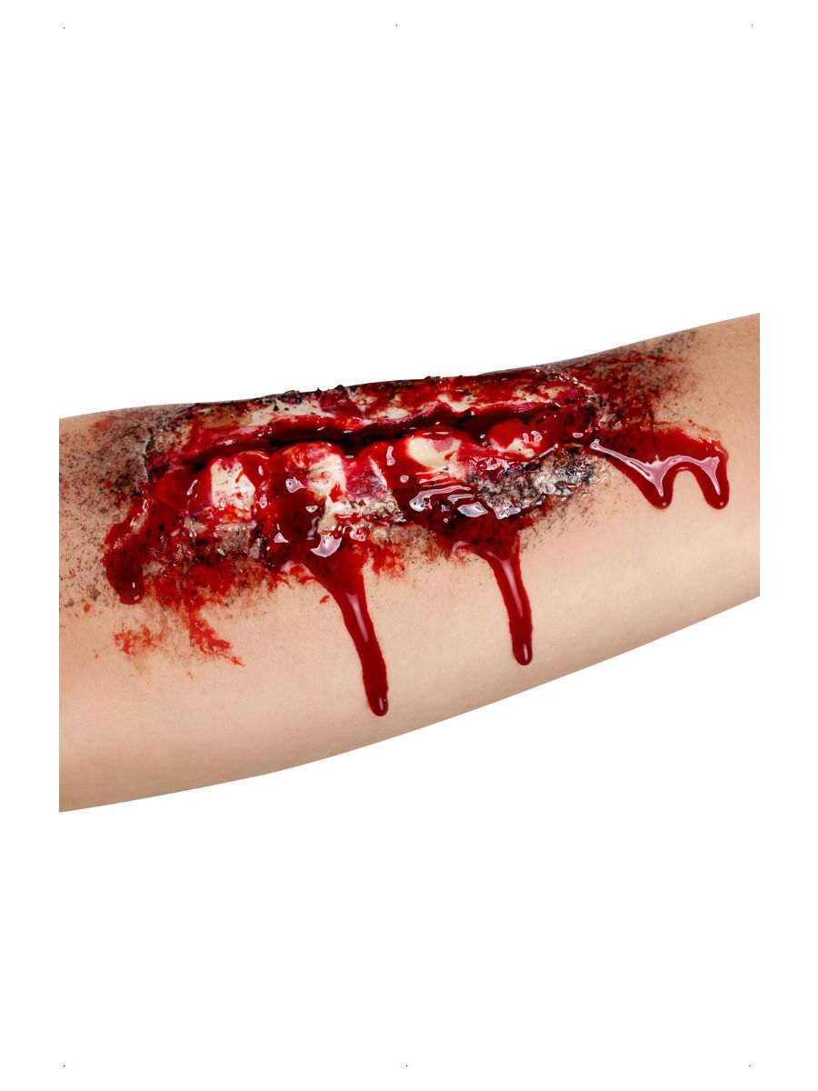 MAKEUP/SCARS & WOUNDS/Smiffys Make-Up FX, Open Wound Latex Scar, Red