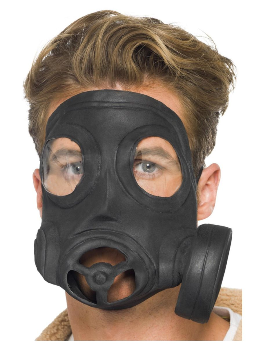 ACCESSORIES/HALLOWEEN/MASKS/RUBBER GAS MASK
