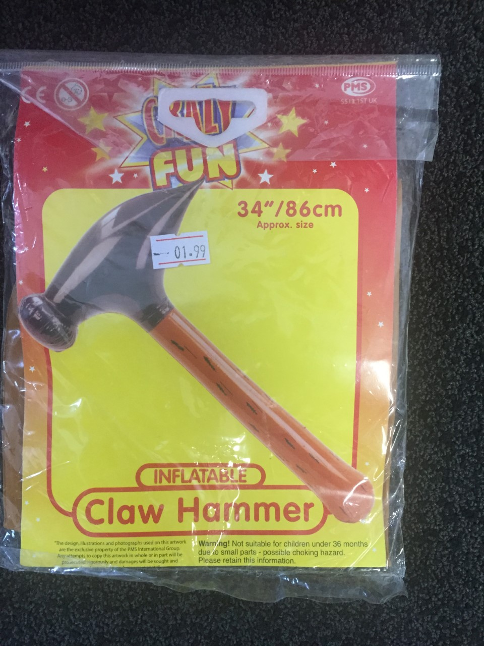 ACCESSORIES/INFLATABLES/inflatable claw hammer