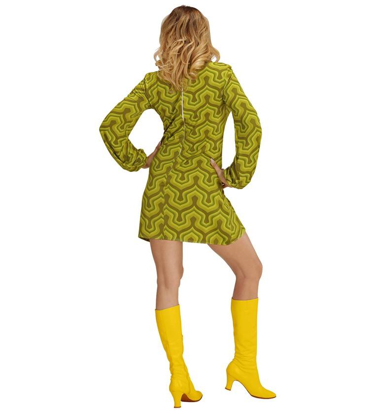 WOMAN/DECADES/1970'S/GROOVY 70s LADY RETRO DRESS - WALLPAPER