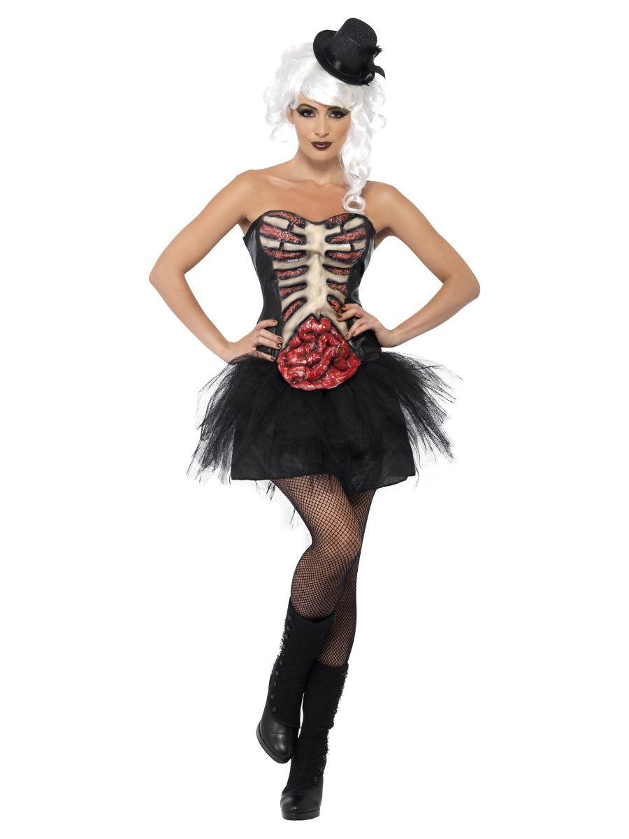 WOMAN/HALLOWEEN/Grotesque Burlesque Corset, Black