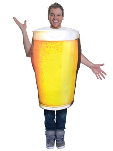 MENS/COMEDY/ Pint of Beer - Adult Costume