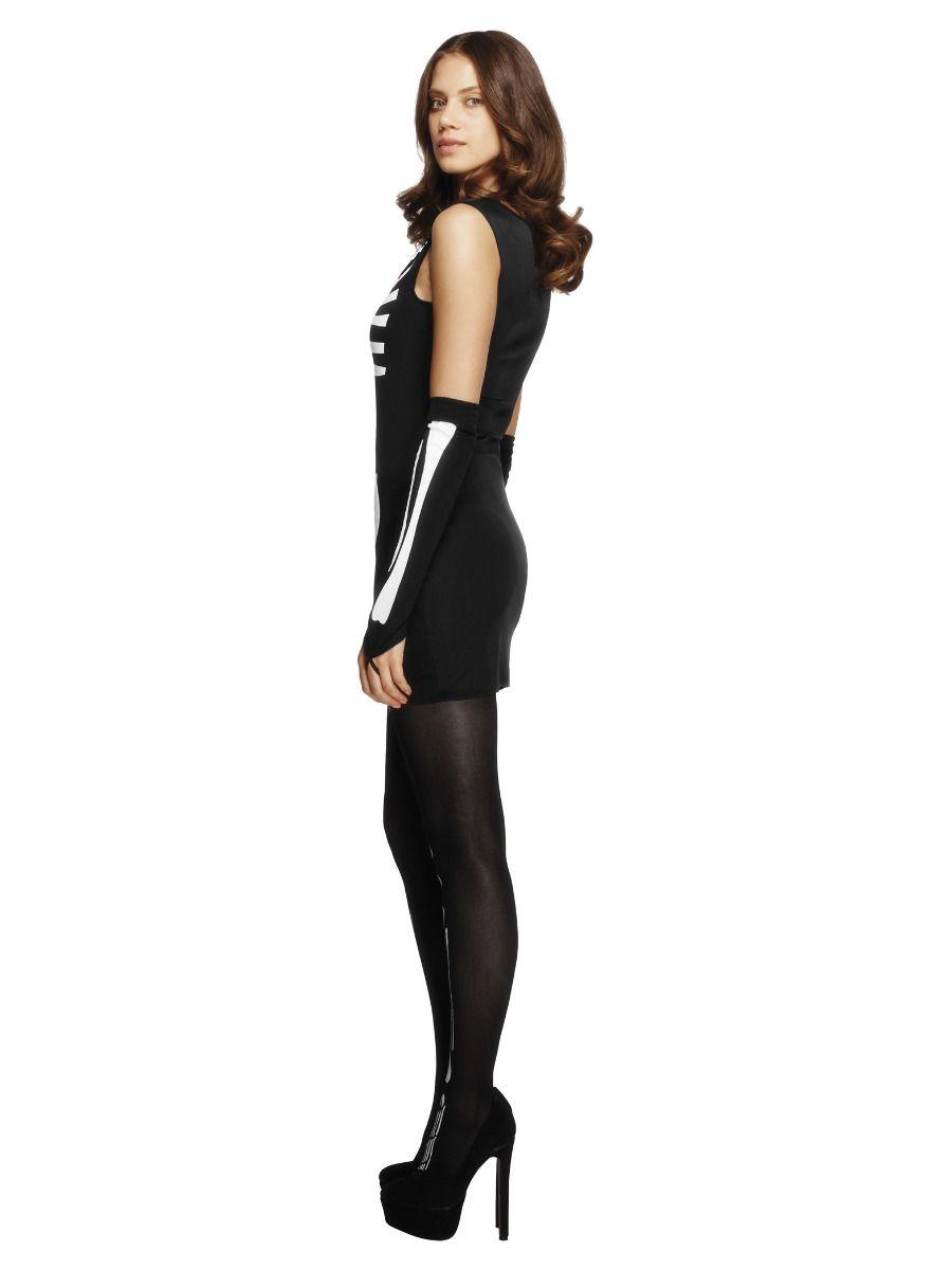 WOMAN/HALLOWEEN/Fever Skeleton Costume, Black
