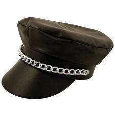 ACCESSORIES/HATS & HEADBANDS/ Adult Black Biker Hat