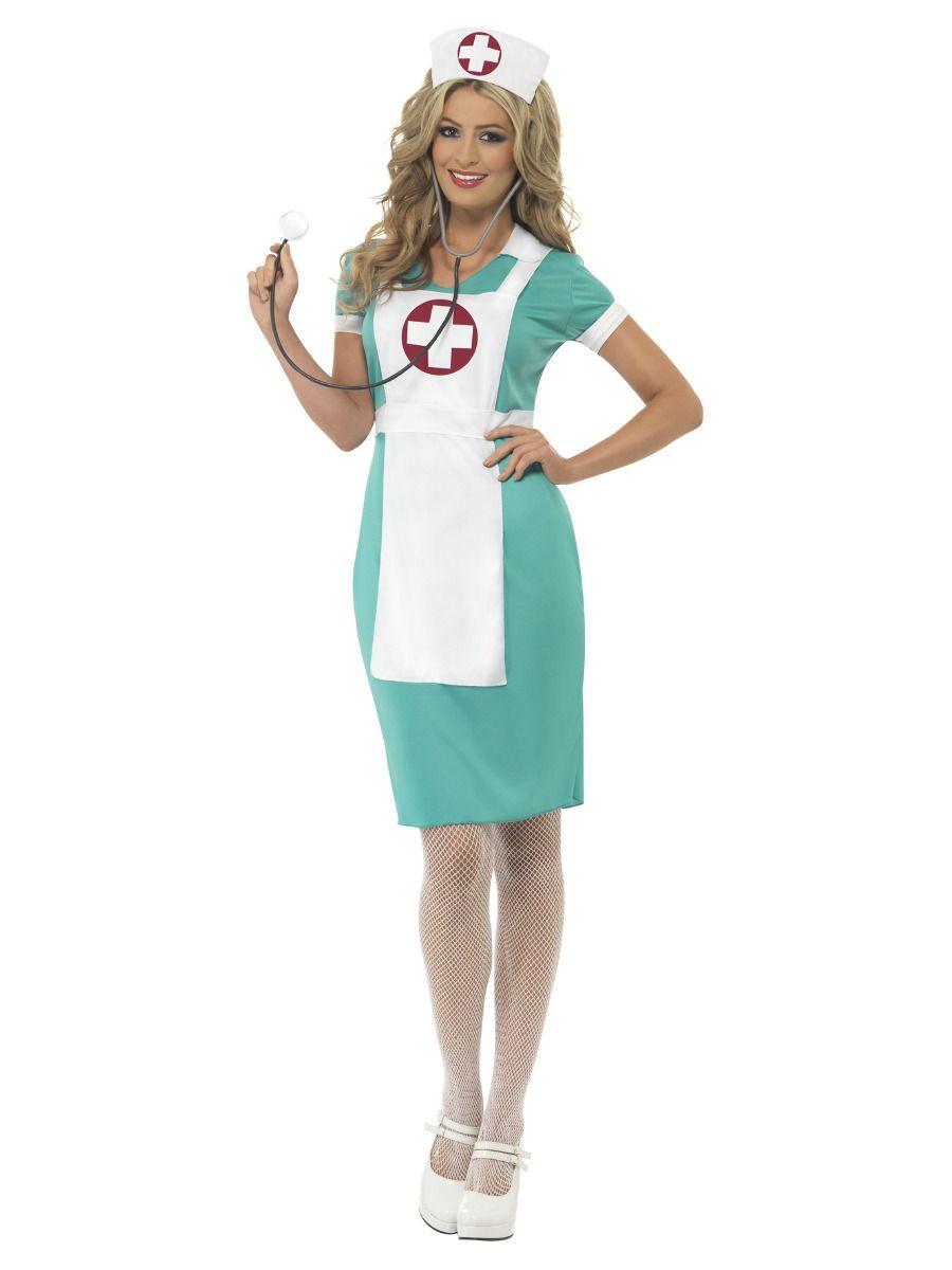 WOMAN/UNIFORMS/Scrub Nurse Costume, Green