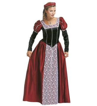 WOMAN/HISTORY/CASTLE BEAUTY COSTUME (dress headpiece with veil)