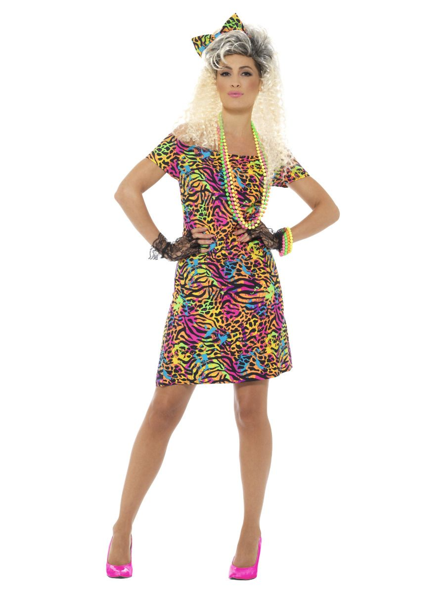WOMAN/DECADES/1980'S/80s Party Animal Costume, Neon