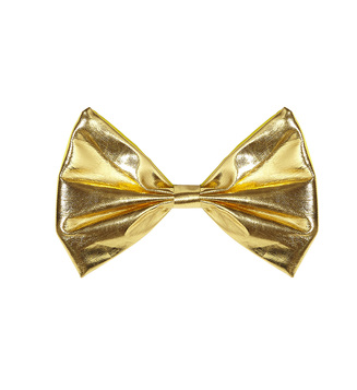 ACCESSORIES/TIES & BRACES/GOLD METALLIC BOW TIE