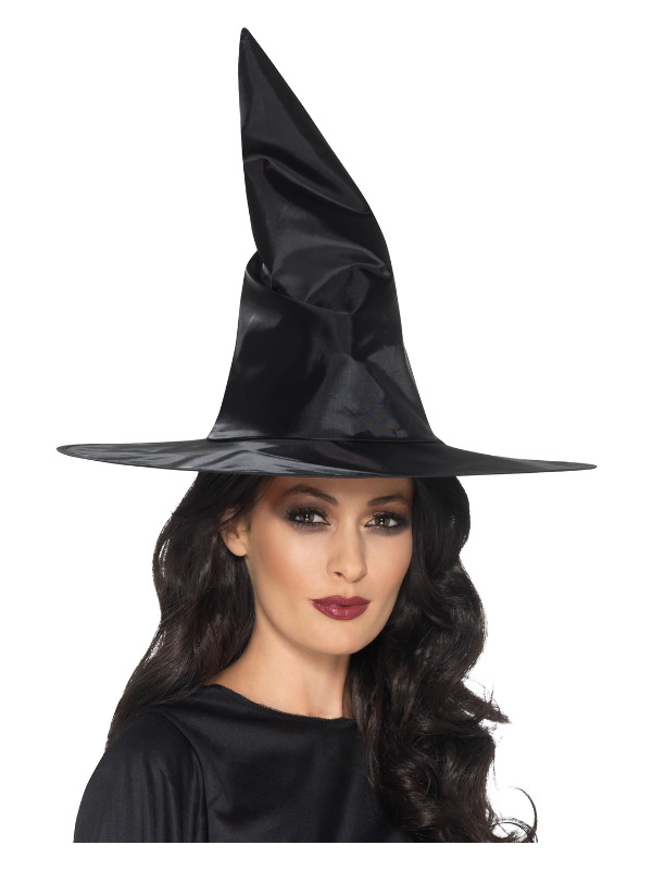 ACCESSORIES/HALLOWEEN/WITCHES HATS/ADULT BLACK WITCHES HAT