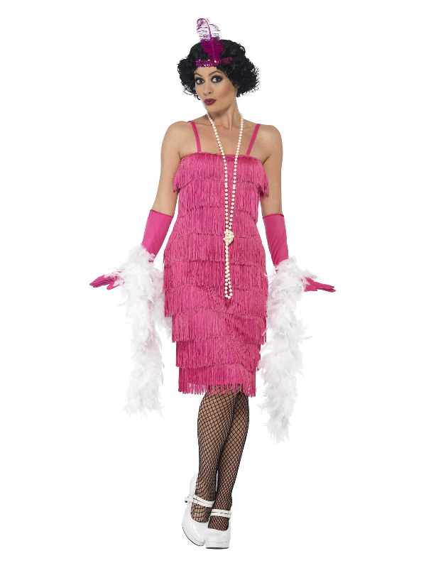 WOMAN/DECADES/1920'S/FLAPPER DRESS,GLOVES,HEADBAND
