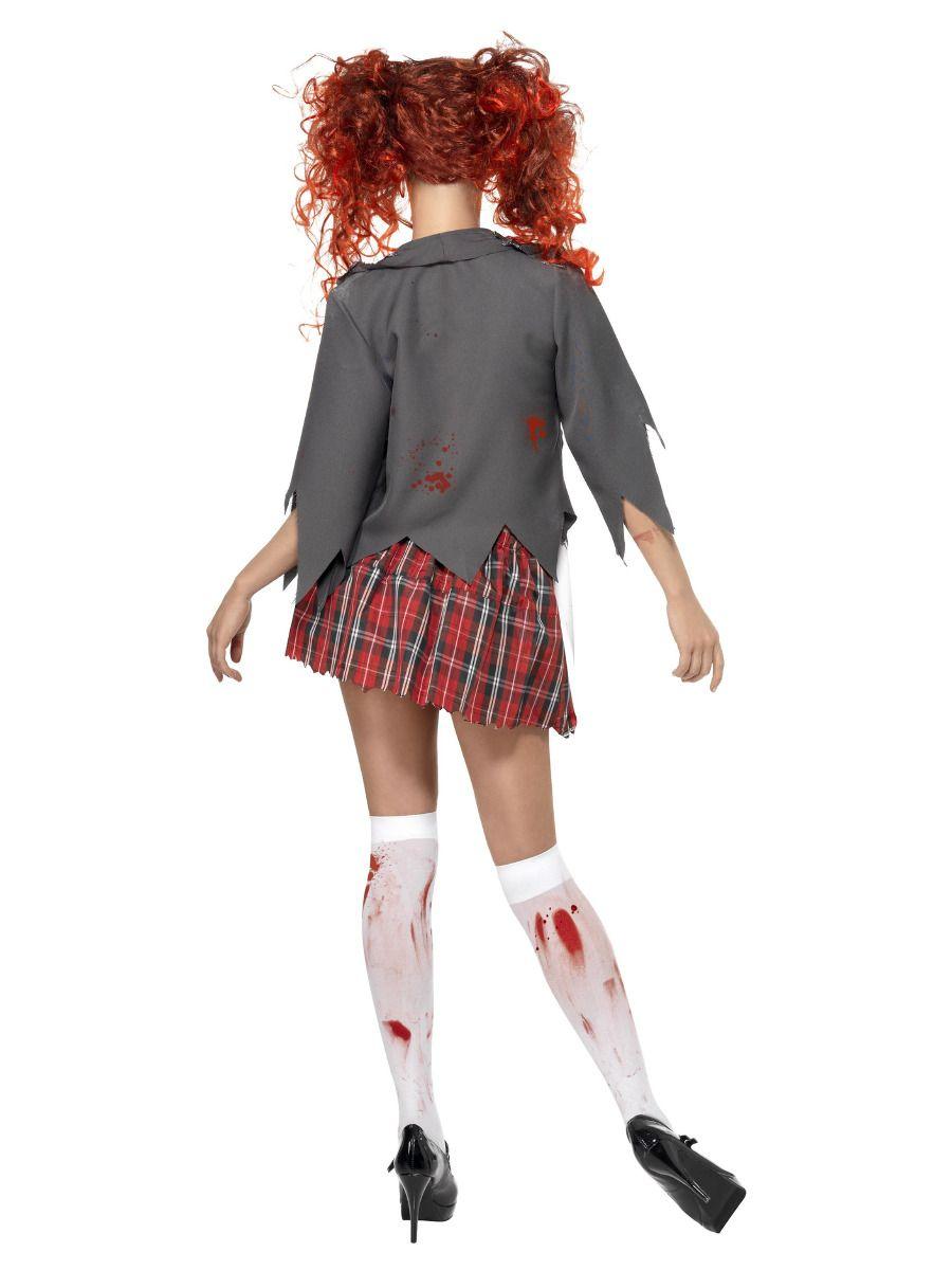 WOMAN/HALLOWEEN/High School Horror Zombie Schoolgirl Costume, Grey