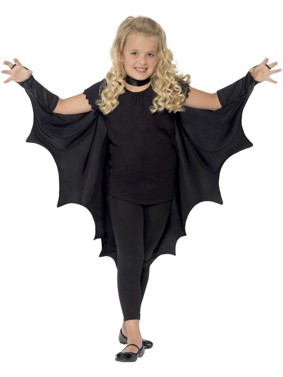 GIRLS/HALLOWEEN/Kids Vampire Bat Wings, Black
