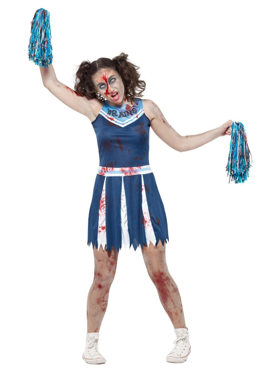 WOMAN/HALLOWEEN/Zombie Cheerleader Costume, Blue