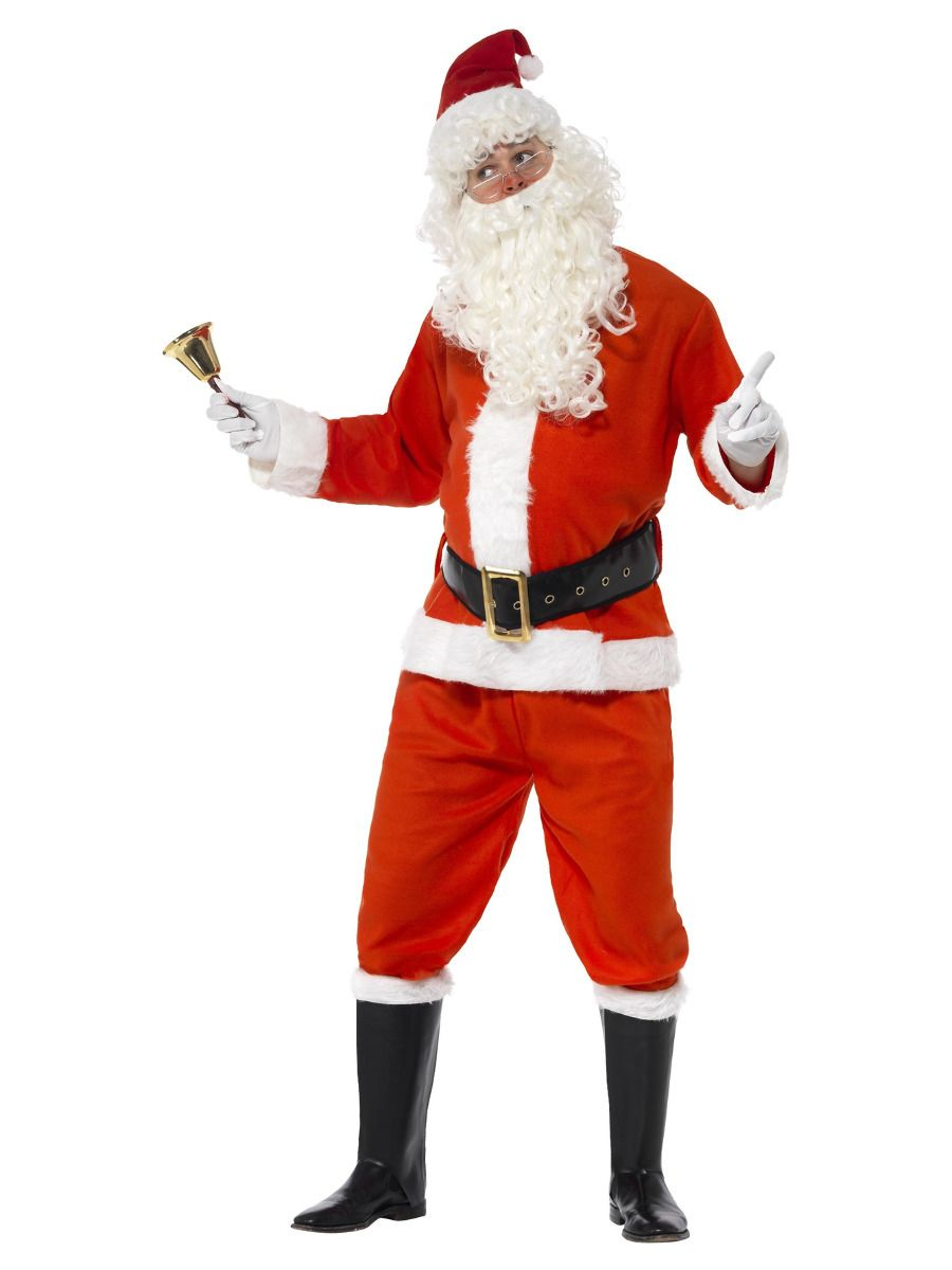 MENS/CHRISTMAS/Deluxe Santa Costume, Red