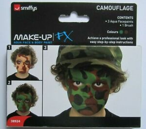 MAKEUP/FACE & BODY PAINT/Smiffys Make Up FX Camouflage Aqua Water Face Paint