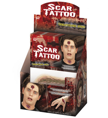 ACCESSORIES/TATOOS/ZOMBIE SCAR TATOOS