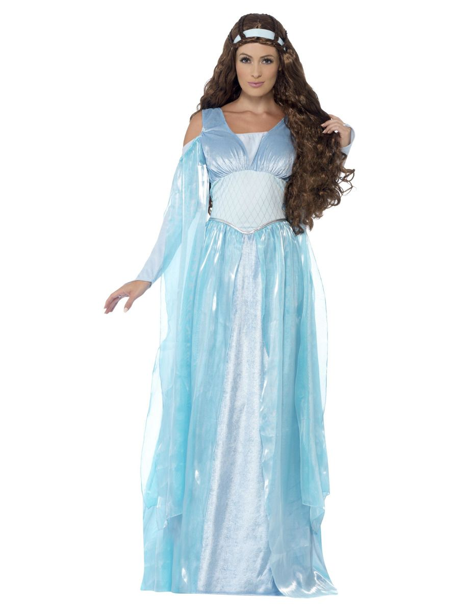 WOMAN/HISTORY/Deluxe Medieval Maiden Costume, Blue
