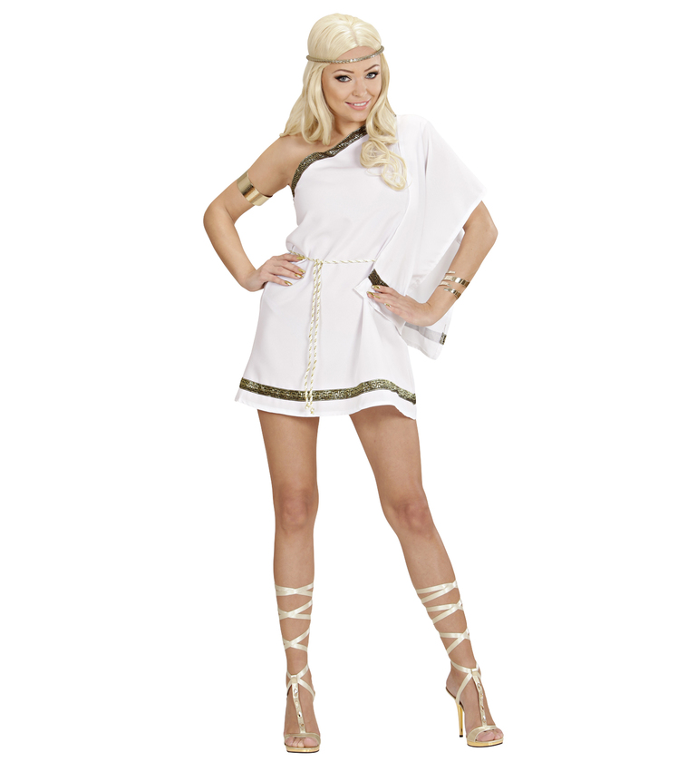 WOMAN/HISTORY/GREEK GODDESS DREAMGIRLZ (dress w/shoulder drape belt)