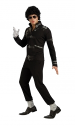 MENS/POPSTARS & CELEBRITIES/MJ BAD BLACK BUCKLE JACKET