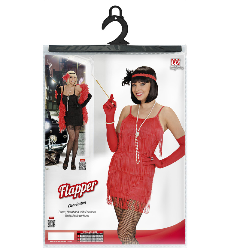 WOMAN/DECADES/1920'S/FLAPPER COSTUME - 2 colours