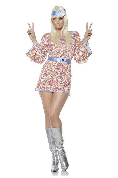 WOMAN/DECADES/1970'S/SHORT DRESS - SIZE SMALL