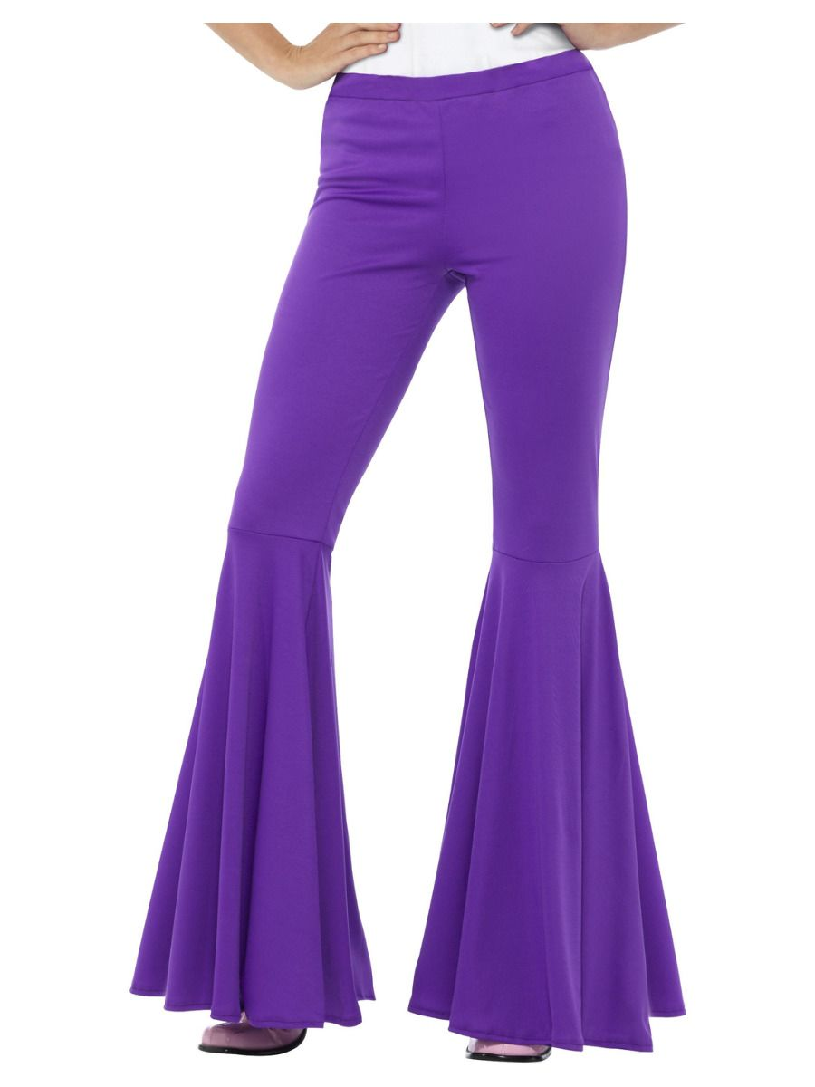 WOMAN/DECADES/1970'S/FLARES PURPLE