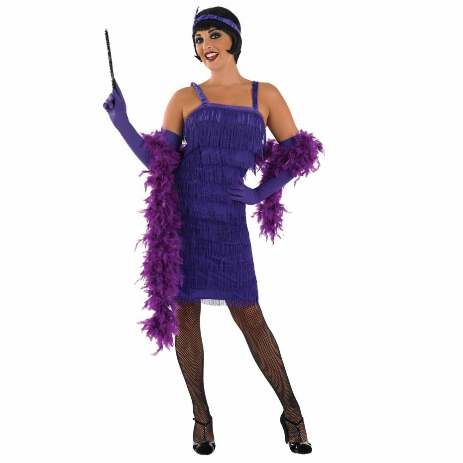 WOMAN/DECADES/1920S/ROARING 20S GIRL PURPLE