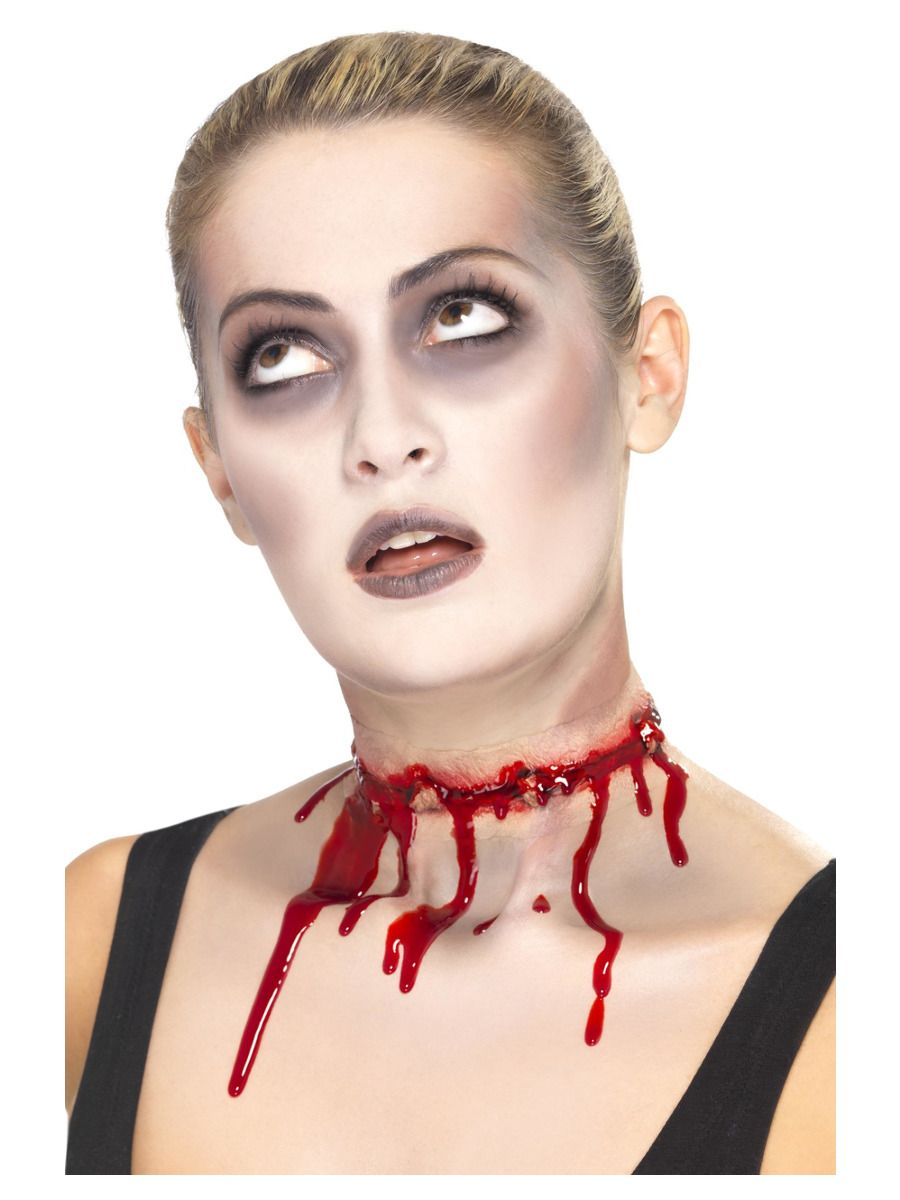 MAKE UP/SCARS & WOUNDS/Smiffys Make-Up FX, Barbed Wire Split Scar, Red
