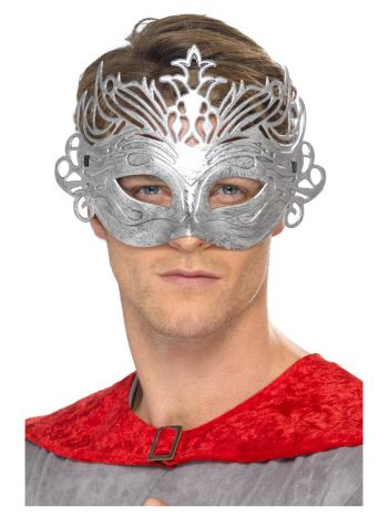 ACCESSORIES/EYE MASKS & MASQUERADE/Colombina Silver Mask, Silver Colombina Silver Mask, Silver