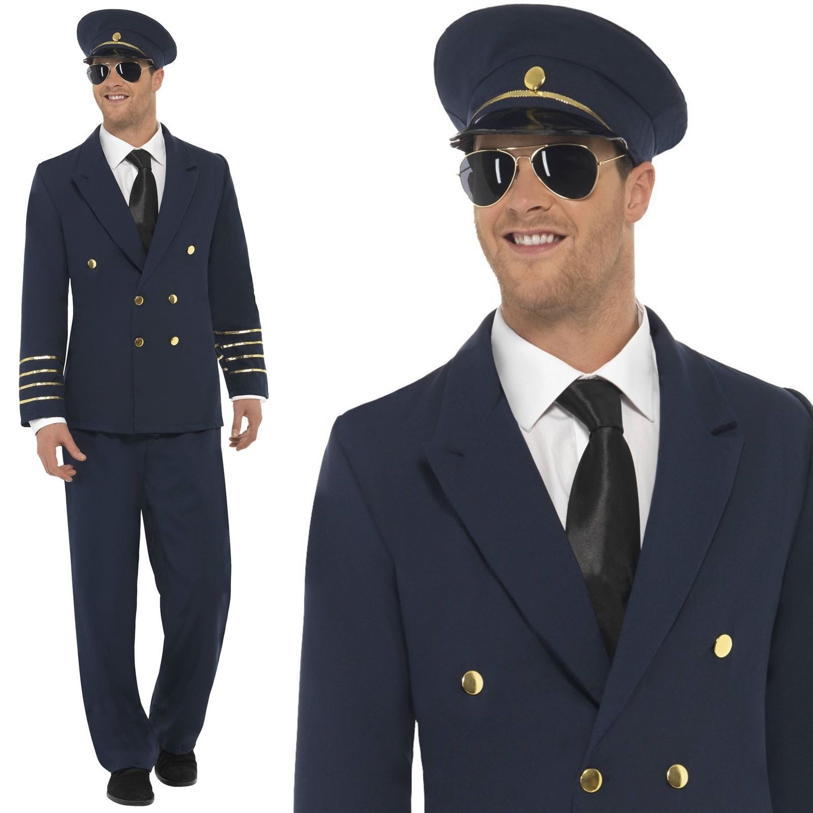 MENS/UNIFORMS/Pilot Costume, Navy Blue