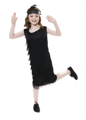GIRLS/HISTORY/Child Flapper With Tassles