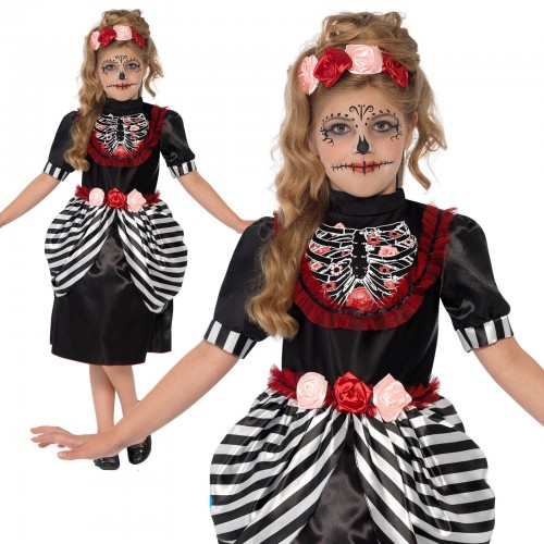 GIRLS/HALLOWEEN/Sugar Skull Costume, Black