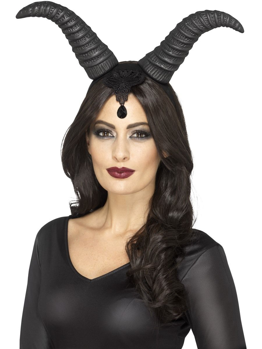 ACCESSORIES/HALLOWEEN/PROPS/BLACK DEVIL HORNS