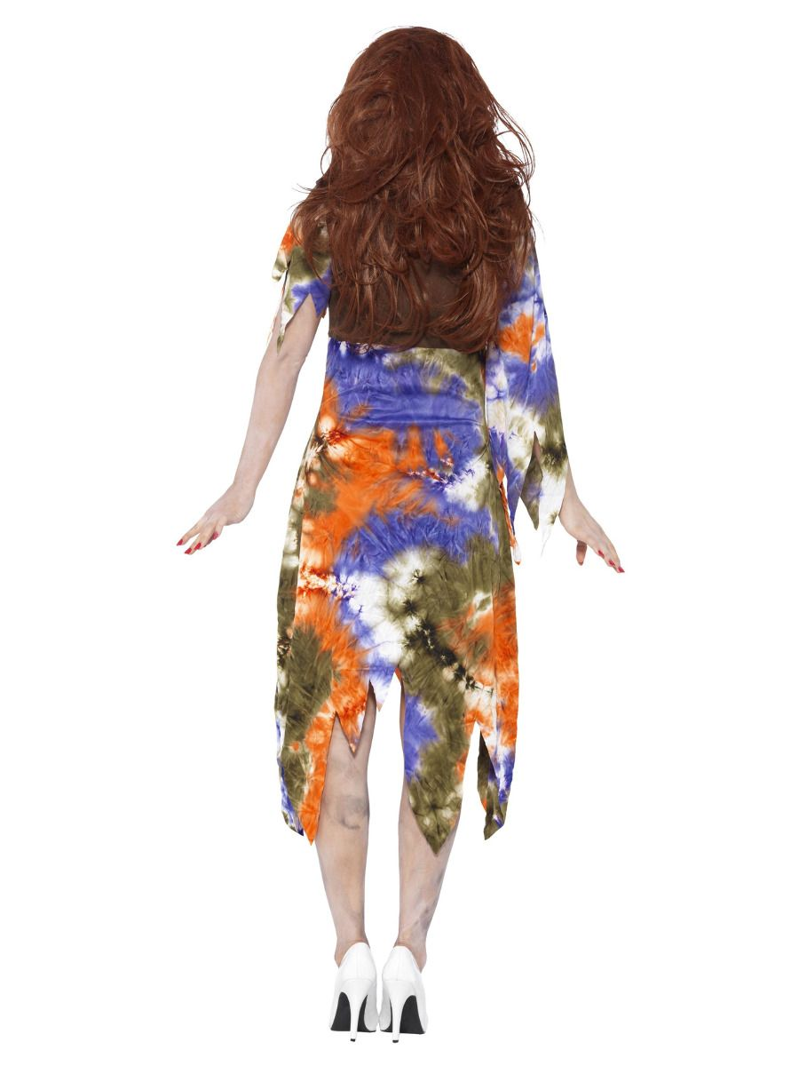 WOMAN/HALLOWEEN/ Zombie 60s Hippie Lady Costume, Multi-Coloured