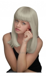 WIG/LONG/SHOULDER LENGTH SILVER WIG