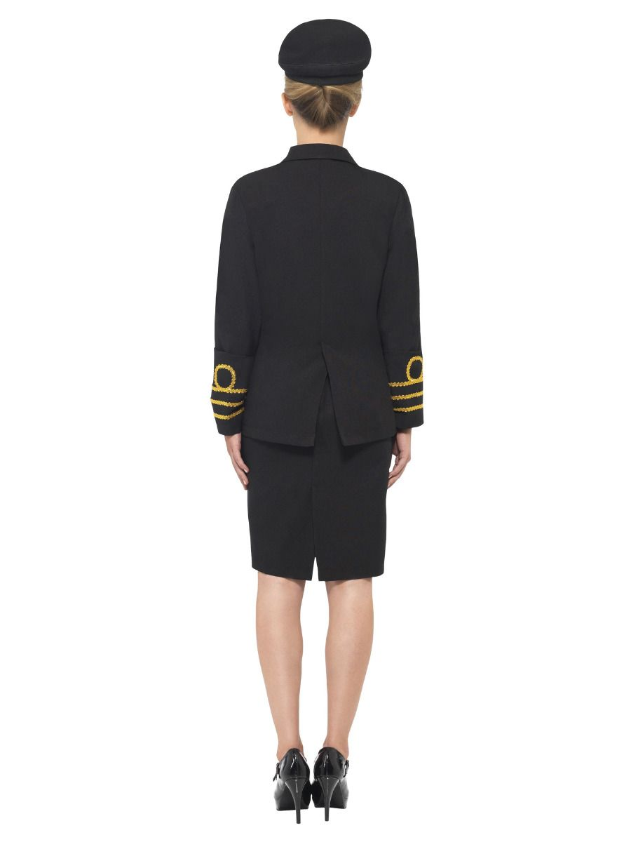 WOMAN/UNIFORMS/ Navy Officer Costume, Black