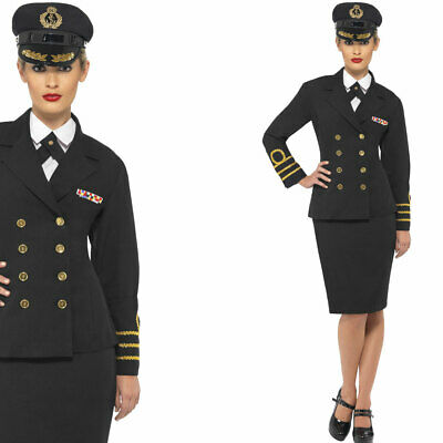 WOMAN/UNIFORMS/ Navy Officer Costume, Black