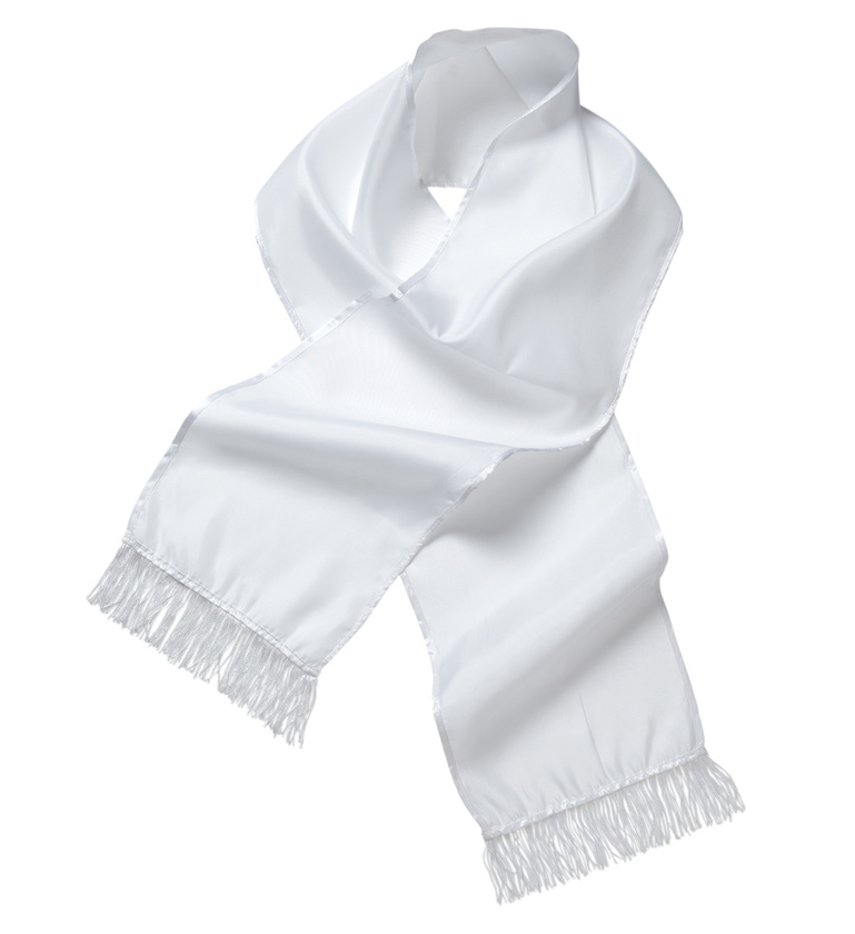 ACCESSORIES/GLOVES & SCARVES/WHITE SATIN SCARF