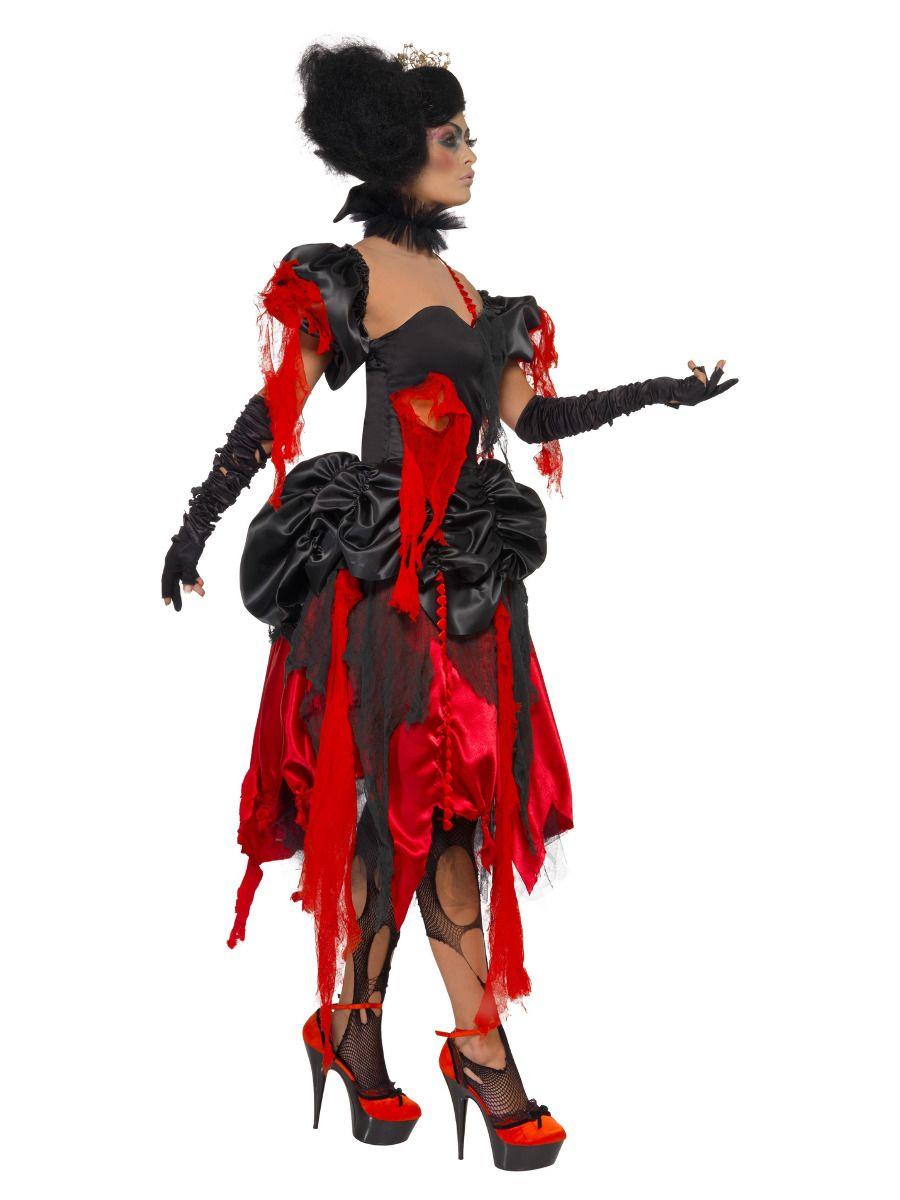 WOMAN/HALLOWEEN/Queen Of Hearts Costume, Black & Red
