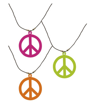 ACCESSORIES/JEWELLERY/HIPPIE NECKLACE NEON **green/pink/orange