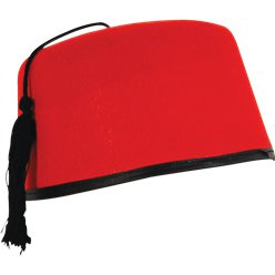 ACCESSORIES/HATS & HEADBANDS/ RED FEZ HAT