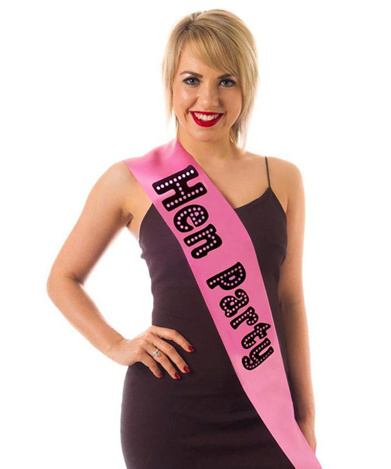 ACCESSORIES/HENS & STAGS/ Hen Party Miss Behave Sash Pink