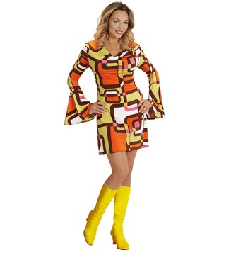 WOMAN/DECADES/1970'S/GROOVY 70s LADY DRESS - TUBES