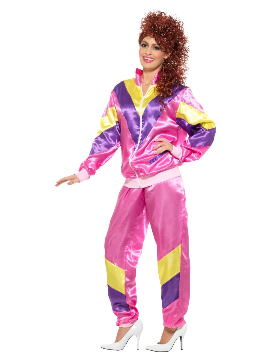 WOMAN/DECADES/1980'S/80s Height of Fashion Shell Suit Costume, Pink
