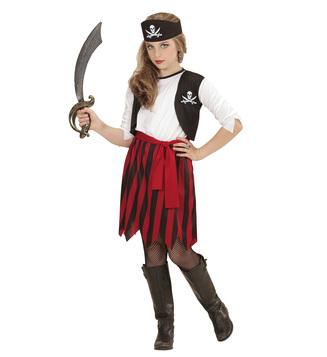 GIRLS/PIRATES/PIRATE GIRL (dress with vest, belt, headpiece) Childrens