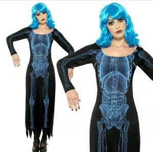 WOMAN/HALLOWEEN/Smiffy's Women's X Ray Costume, Tube Dress with Long Sleeves,