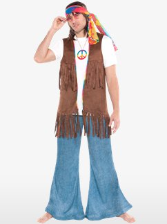 MENS/DECADES/1960'S/HIPPIE VEST