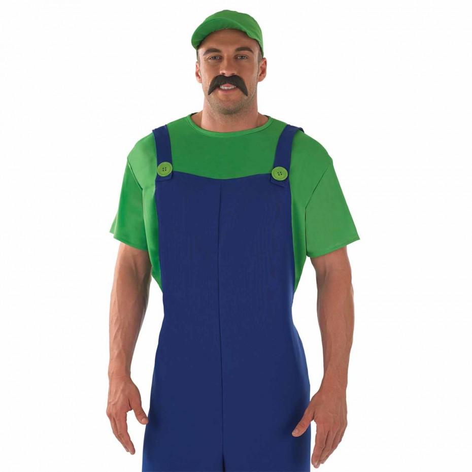 MENS/TV & FILM/MENS GREEN PLUMBER COSTUME
