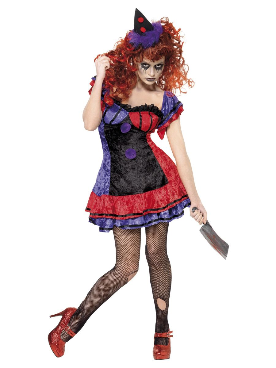 WOMAN/HALLOWEEN/ Cirque Sinister Bo Bo the Clown Costume, Purple