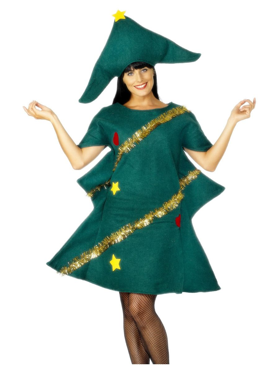 WOMAN/CHRISTMAS/Christmas Tree Costume, Green
